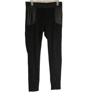 H&M Black Skinny Faux Leather Legging Pants Medium
